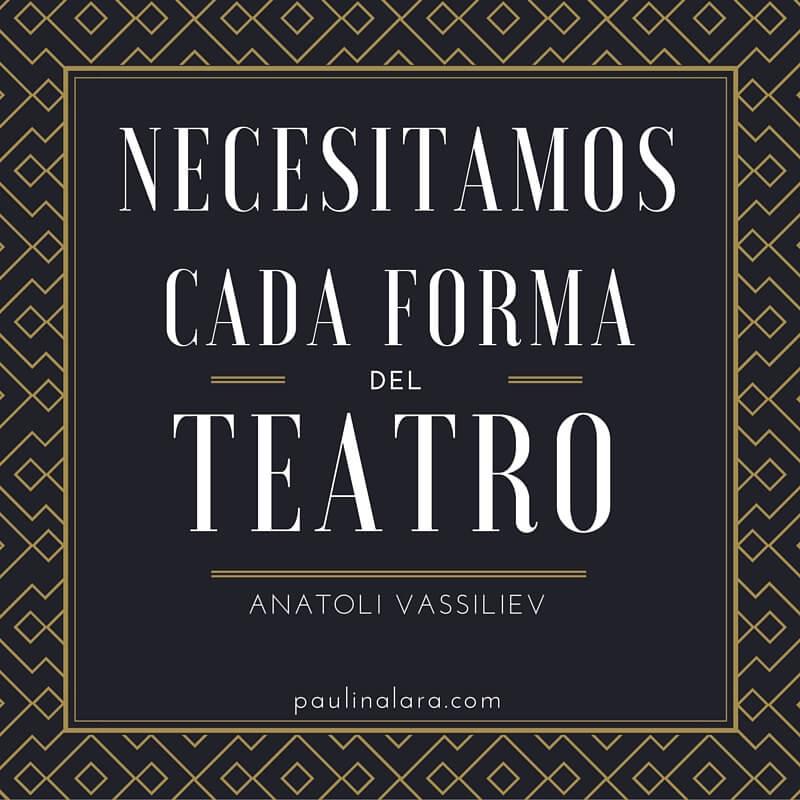 Día del Teatro (mensaje 2016).